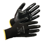 Honeywell Medium WorkEasy™ WE110 13 Gauge Black Nitrile Palm And Fingertips Coated Work Gloves With Black Polyester Liner And Knit Wrist