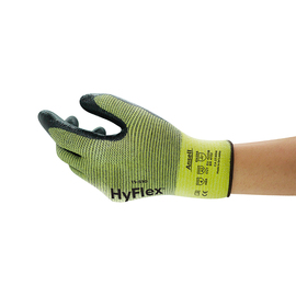 Ansell Size 10 HyFlex® 15 Gauge DuPont™ Kevlar® And Nylon Cut Resistant Gloves With Foam Nitrile Coated Palm