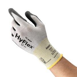 Ansell Size 9 HyFlex® 13 Gauge DSM Dyneema® And Lycra® Cut Resistant Gloves With Polyurethane Coated Palm