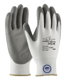 PIP® Medium Great White® 3GX® Dyneema® Diamond Blend Cut Resistant Gloves With Polyurethane Coating