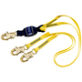 3M™ DBI-SALA® 6' Force2™ Web 100% Tie-Off Twin-Leg Shock-Absorbing Lanyard With Snap Hooks At Both Ends