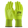 PIP® Medium G-Tek® GP™ 13 Gauge Hi-Viz Yellow Nitrile Palm And Finger Coated Work Gloves With Nylon Liner And Continuous Knit Wrist