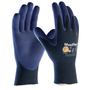 PIP® Medium MaxiFlex® Elite by ATG® Blue Nitrile Palm And Finger Coated Work Gloves With Nylon Knit Liner And Continuous Knit Wrist