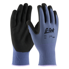 PIP® Large G-Tek® GP™ 13 Gauge Black Nitrile Palm And Finger Coated Work Gloves With Nylon Liner And Continuous Knit Wrist