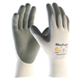 PIP® Medium MaxiFoam® By ATG® Gray Nitrile Palm And Finger Coated Work Gloves With Nylon Liner And Continuous Knit Wrist