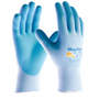 PIP® Medium MaxiFlex® Active By ATG® Light Blue Nitrile Palm And Finger Coated Work Gloves With Nylon And Lycra® Liner And Continuous Knit Wrist