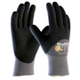 PIP® Large MaxiFlex® Endurance by ATG® Black Nitrile Palm, Finger And Knuckles Coated Work Gloves With Nylon And Lycra® Liner And Continuous Knit Wrist