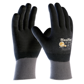 PIP® Small MaxiFlex® Endurance by ATG® Black Latex Full Coated Work Gloves With Nylon And Lycra® Liner And Continuous Knit Wrist