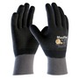 PIP® Large MaxiFlex® Endurance by ATG® Black Nitrile Full Coated Work Gloves With Nylon And Lycra® Liner And Continuous Knit Wrist