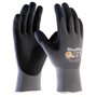 PIP® Large MaxiFlex® Ultimate by ATG® Black Latex Palm And Finger Coated Work Gloves With Nylon Liner And Continuous Knit Wrist