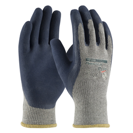 PIP® Medium PowerGrab™ Plus 10 Gauge Blue Nitrile Palm And Finger Coated Work Gloves With Cotton And Polyester Liner And Continuous Knit Wrist