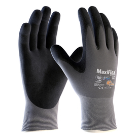 PIP® X-Large MaxiFlex® Ultimate™ AD-APT® Black Nitrile Palm And Finger Coated Work Gloves With Nylon And Lycra® Liner And Continuous Knit Wrist