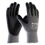 PIP® Medium MaxiFlex® Ultimate™ AD-APT® Black Nitrile Palm And Finger Coated Work Gloves With Nylon And Lycra® Liner And Continuous Knit Wrist