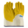 PIP® Large Armor® 10 Gauge Yellow Latex Palm, Finger And Knuckles Coated Work Gloves With Cotton Liner And Safety Cuff