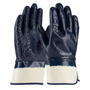 PIP® Large ArmorGrip® Heavy Weight Blue Nitrile Full Coated Work Gloves With Cotton Liner And Safety Cuff