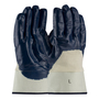 PIP® Large ArmorTuff® Standard Blue Nitrile Palm, Finger And Knuckles Coated Work Gloves With Cotton Liner And Safety Cuff