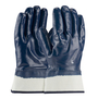 PIP® X-Large ArmorTuff® Standard Blue Nitrile Full Coated Work Gloves With Jersey Liner And Safety Cuff