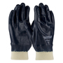 PIP® Medium ArmorLite® XT Light Weight Blue Nitrile Full Coated Work Gloves With Cotton Liner And Continuous Knit Wrist
