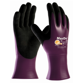 PIP® 2X MaxiDry® By ATG® Black Nitrile Full Coated Work Gloves With Nylon Liner And Gauntlet Cuff
