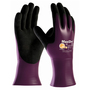 PIP® Medium MaxiDry® By ATG® Black Nitrile Full Coated Work Gloves With Nylon Liner And Gauntlet Cuff