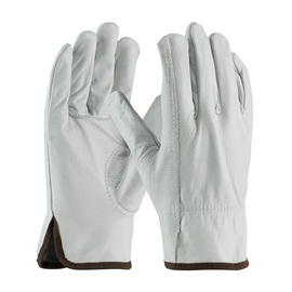 PIP® Medium Natural Top Grain Cowhide Unlined Drivers Gloves