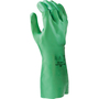 SHOWA® Size 8 Green Cotton Flocked Lined 15 mil Unsupported Biodegradable Nitrile Chemical Resistant Gloves