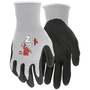 MCR Safety® Medium UltraTech® 15 Gauge Gray Foam Nitrile Palm And Fingertips Coated Work Gloves With White Nylon Liner And Knit Wrist