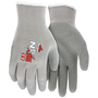 MCR Safety® Large NXG 10 Gauge Gray Latex Palm And Fingertips Dipped Coating Work Gloves With Gray Cotton And Polyester Liner And Knit Wrist
