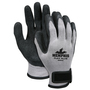 MCR Safety® Medium FlexTuff® 10 Gauge Black Latex Palm And Fingertips Dipped Coating Work Gloves With Gray Cotton And Polyester Liner And Hook And Loop Cuff