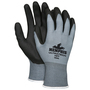 MCR Safety® Large UltraTech® HPT 15 Gauge Black HPT Palm And Fingertips Coated Work Gloves With Gray Nylon Liner And Knit Wrist
