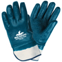 MCR Safety® X-Large Predator® Blue Premium Rough Nitrile Full Dip Coating Work Gloves With Natural Jersey Liner And Safety Cuff