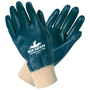MCR Safety® Medium Predalite® Blue Nitrile Full Dip Coating Work Gloves With Natural Interlock Liner And Knit Wrist