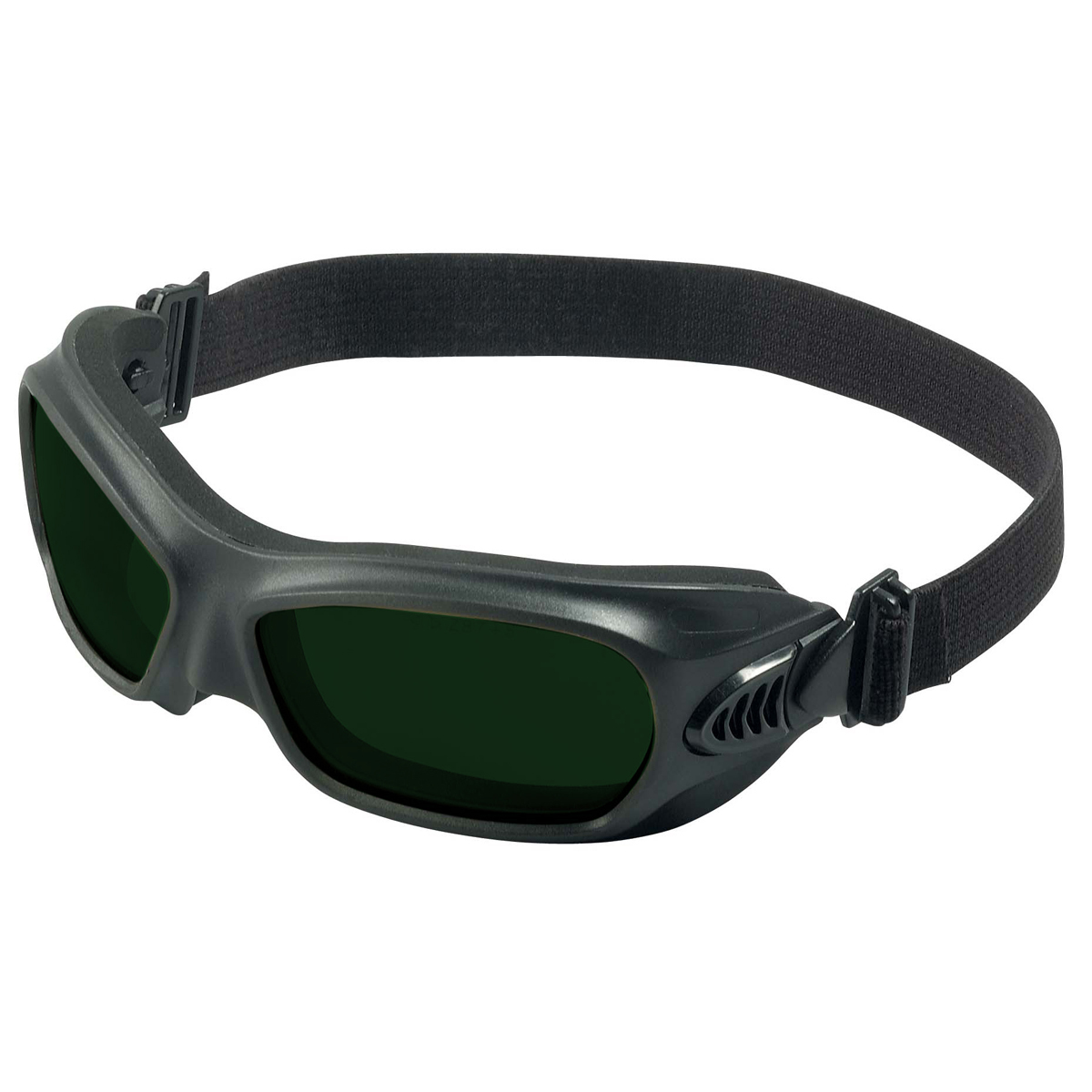 Airgas K4520529 Kimberly Clark Professional Kleenguard Wildcat Sliding Side Vent Welding Goggles With Black Flexible Wraparound Frame And Iruv Shade 5 Anti Fog Lens Lead Time For This Product May Be Longer