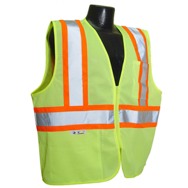 Radians, Inc. Medium Hi-Viz Green RadWear™ Self Extinguishing 100% Polyester Mesh Vest