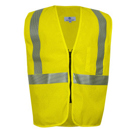 National Safety Apparel® Medium Hi-Viz Yellow VIZABLE® FR Modacrylic/Para-Aramid Mesh Safety Vest