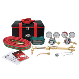 Harris® Model VH31-25GX-510 Ironworker® V-Series™ Deluxe Heavy Duty All Fuels/Acetylene/Oxygen Brazing/Cutting/Heating/Welding Outfit CGA-510 With Torch Equipped FlashGuard® Check Valves