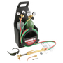 Harris® Model V100C-601-200 Port-A-Torch® Deluxe Light - Medium Duty Acetylene/Oxygen Brazing/Cutting/Welding Outfit CGA-200 With Handle Equipped FlashGuard® Check Valves