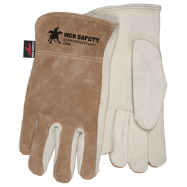 Memphis Glove Medium Natural Select Grade Cowhide Unlined Drivers Gloves With DuPont™ Kevlar® Stitching
