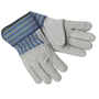 MCR Safety Large Blue, Yellow And Black Select Shoulder Leather Palm Gloves With 3/4 Leather Back And Plasticized Safety Cuff