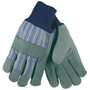 MCR Safety Large Blue, Yellow And Black Select Select Shoulder Leather Palm Gloves With Fabric Back And Knit Wrist