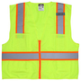 MCR Safety® 2X Hi-Viz Lime MCR Safety® Polyester Surveyors Vest