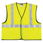 MCR Safety® 2X Hi-Viz Lime MCR Safety® Polyester Mesh General Purpose Vest