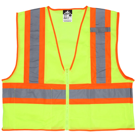 MCR Safety® Medium Hi-Viz Lime MCR Safety® Polyester Mesh Safety Vest