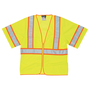 MCR Safety® 2X Hi-Viz Lime MCR Safety® Polyester Mesh Short Sleeve Vest