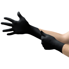 Ansell 2X Black Microflex® MidKnight™ 5.5 mil Nitrile Disposable Gloves