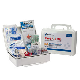 First Aid Only® White Plastic Portable/Wall Mount 25 Person Bulk First Aid Kit