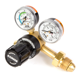 RADNOR® 150 Series Victor® Style Light Duty Argon And Argon/CO2 Mix Flowgauge Regulator, CGA-580