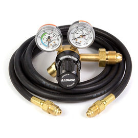 RADNOR® Model 150 Series Victor® Light Duty Argon And Argon/CO2 Mix Flowgauge Regulator, CGA-580 With 10' Hose