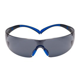 3M™ SecureFit™ Blue And Gray Safety Glasses With Gray Scotchgard™ Anti-Fog Lens