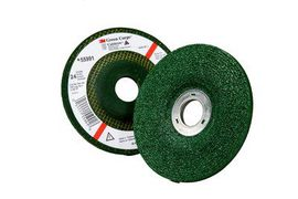 3M™ Green Corps™ Depressed Center Grinding Wheel 4-1/2 in x 1/4 in x 7/8 in